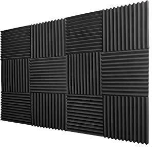 "TRUE NORTH Acoustic Foam Panels 1""x12""x12"" (12 Pack) – Acoustic Panels, Sound Proof Padding, Soundproofing Foam, Sound Proof Foam Panels, Studio Foam, Sound Foam, Soundproof Foam, Acoustic Panel"