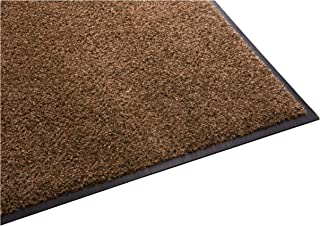 Guardian Platinum Series Indoor Wiper Floor Mat, Rubber with Nylon Carpet, 3'x4', Brown