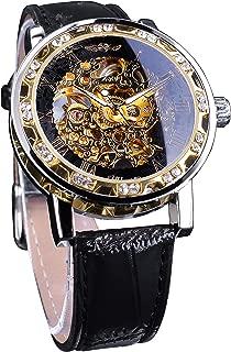 Winner Fashion Diamond Display Men Skeleton Watch Mechanical Classic Retro Roman Number
