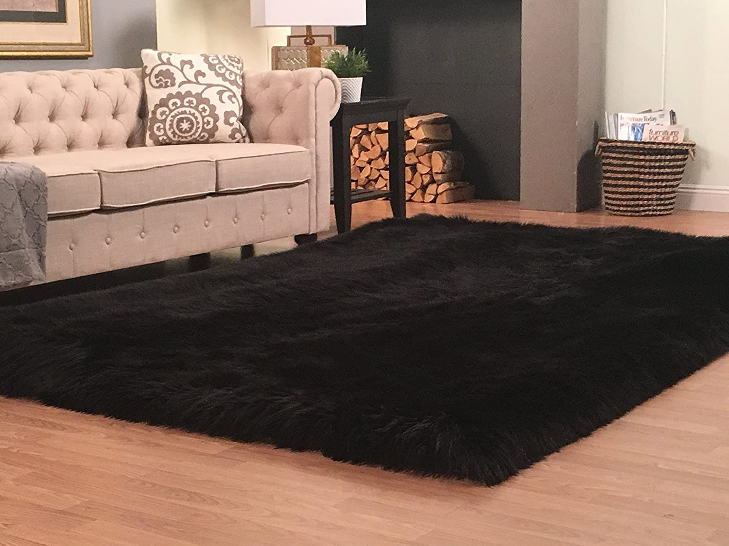 Max 54% OFF LAMBZY '' Lena Collection Faux Challenge the lowest price Hypoaller Super Soft Sheepskin