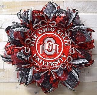 Ohio Sports Wreath, Buckeyes Wreath, Ohio College Wreaths (3588)