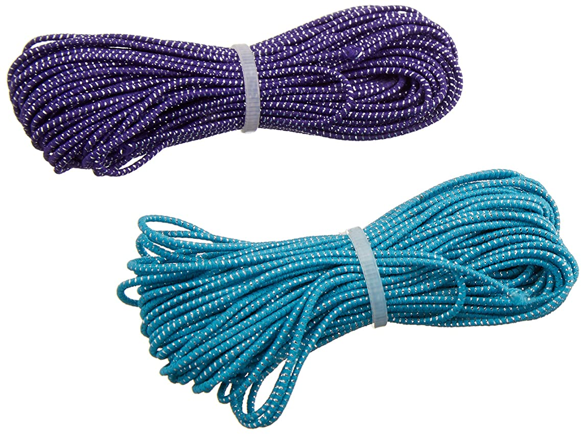 Cousin Fun Pack Stretch Cord, 17.5-Yard, Blue and Purple