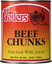 Yoder's Canned Premium Boneless Beef Chunks, 28 Oz(1 lb.12 Oz,1 can)