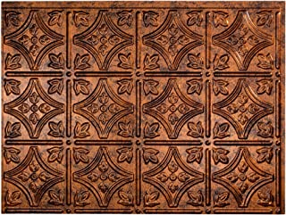 Fasade Easy Installation Traditional 1 Moonstone Copper Backsplash Panel for Kitchen and Bathrooms (18