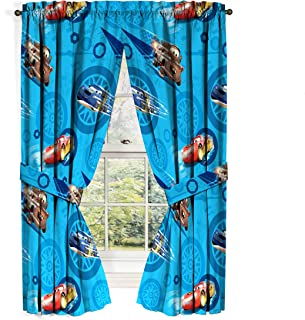 Jay Franco Disney Cars 2 City Limits Curtain Drape Set, 63 Inch