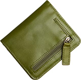 Gostwo Womens RFID Blocking Small Compact Bifold Luxury Genuine Leather Pocket Wallet Ladies Mini Purse with ID Window(Green Oasis)