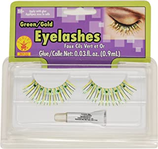 Rubies Pixie Green and Gold Eyelashes