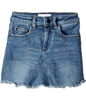 DL1961 Kids - Mid Wash Minnie Skirt in Blue Rose (Toddler/Little Kids)