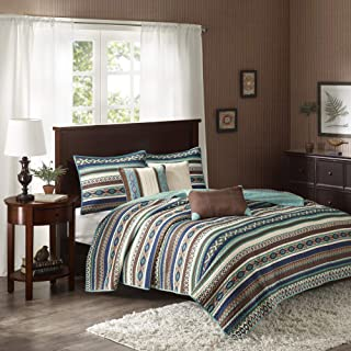 Madison Park Quilt Rustic Southwestern All Season, Breathable Coverlet Bedspread, Lightweight Bedding, Shams, Decorative P...