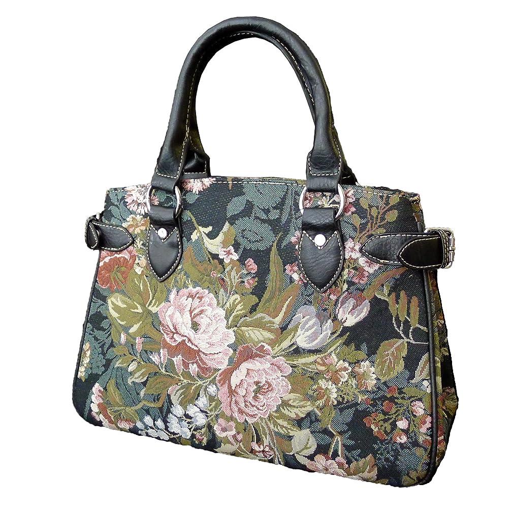 Signare 18873-Blossom Blossom Center Compartment Purse, Tapestry
