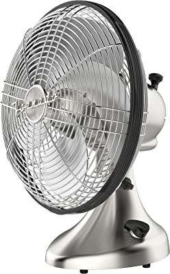 Vornado Silver Swan Vintage Oscillating Fan, Brushed Nickel