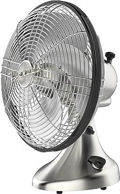 Vornado Silver Swan Vintage Oscillating Fan, Brushed Nickel