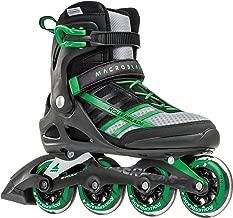 Rollerblade Macroblade 84 Men's Adult Fitness Inline Skate, Black and Green, Performance Inline Skates