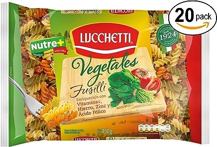 Lucchetti Empaque con 20 Piezas de Fusilli Vegetales, 450 g,