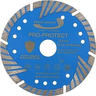 PRODIAMANT Diamantskärskiva PRO PROTECT 125 x 22,2 mm med skyddande segment för murverk sten betong B25 granit takpannor t...