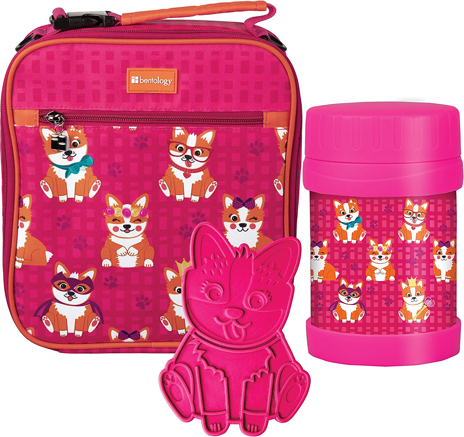 Kids Complete Lunch Box Tote Kit: Insulated Sleeve w Convertible