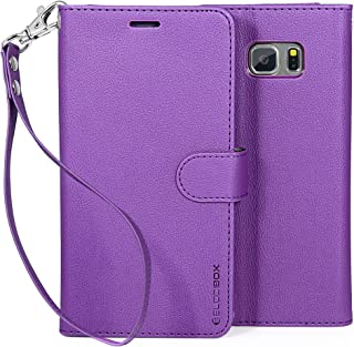 Note 5 Case, BUDDIBOX [Wrist Strap] Premium PU Leather Wallet Case with [Kickstand] Card Holder and ID Slot for Samsung Galaxy Note 5, (Purple)