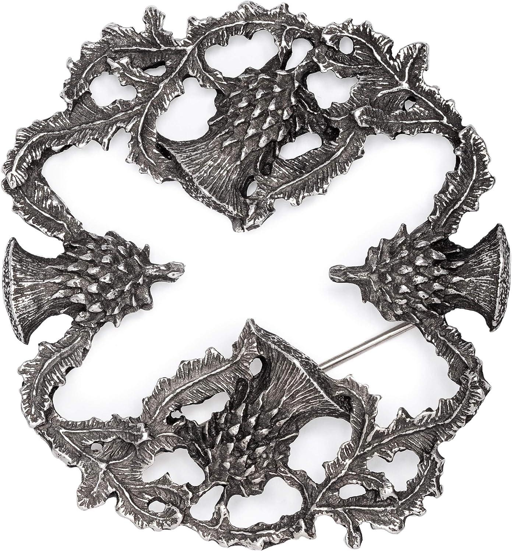 USA Kilts Scottish Thistle Saltire Sash Shawl Scarf Brooch Made in the USA