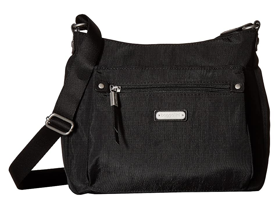 Baggallini New Classic Uptown Bagg with RFID Phone Wristlet (Black) Bags