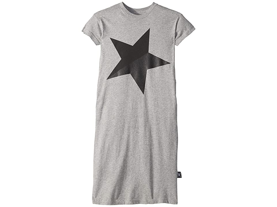 Nununu Shiny Star Dress (Toddler/Little Kids) (Heather Grey) Girl