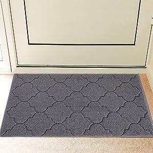 REFETONE Indoor Doormat, Front Back Door Rug Durable Rubber Backing Non Slip Door Mat Super Absorbent Resist Dirt Entrance Rug Inside Floor Mats Machine Washable Low-Profile - 20