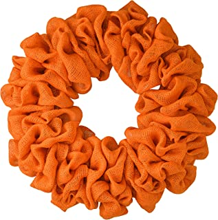 Ribbons on Your Own Everyday Wreath to Decorate DIY Red Plain Burlap Wreath Already Made Premade Add Bow