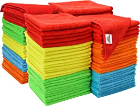S & T Microfiber Bulk Cleaning Cloth 100 Pack