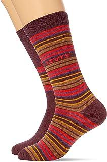 Levi's Multicolour Stripe Unisex Regular Cut Socks (2 Pack) (Pack of 2)
