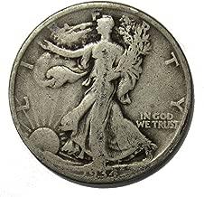 1934 D Walking Liberty Half Dollar 50c Average Circulated