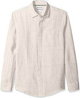 Men's Slim-Fit Long-Sleeve Linen Shirt