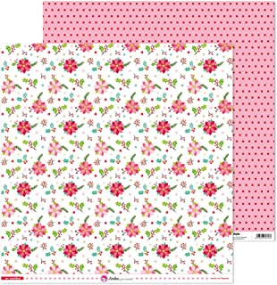 Anita y Su Mundo Colección En Navidad Papiers de scrapbooking, Fleurs de Noël, 30,5 x 30,5 cm