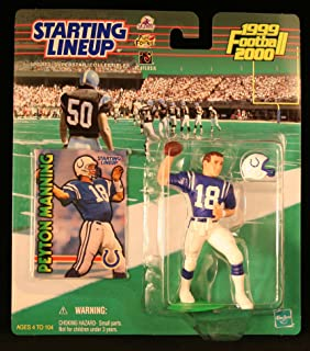Starting Lineup Peyton Manning / Indianapolis Colts 1999-2000 NFL Action Figure & Exclusive NFL Collector Trading Card