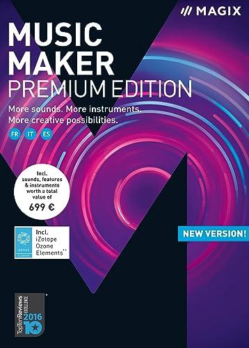 MAGIX Music Maker – Premium Edition 2018 – encore plus de sons, d'instruments et de possibilités [Téléchargement]