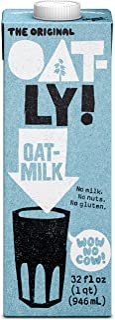 Oatly Oat Milk Original, 32 oz, Pack of 6, Gluten Free, Dairy Free, Sugar Free, Non GMO, Vegan, High Fiber, Calcium & Vita...