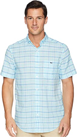 Flat Point Plaid Short Sleeve Classic Tucker Shirt