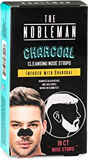 😎 The Nobleman 18 Strips of Activated Charcoal Nose Strips For Blackheads Removal, Bulk Pack Deep Cleansing Nose Bridge P...