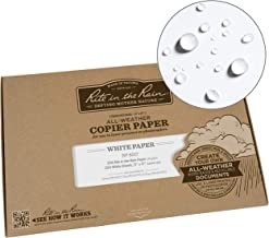 "product image for Rite In The Rain Weatherproof Copier Paper, 11"" x 17"", 20# White, 200 Sheet Pack (No. 8517)"