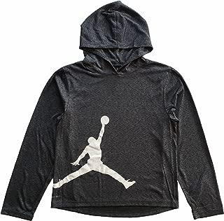 Jordan Air Boys Youth Dri-Fit Long Sleeve Hoodie Shirt Heathered Black Size M, XL
