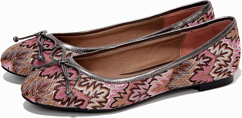 Moonisa Sinara Knitted Flats Pink