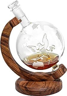 Navy Decanter, 1000ml Globe Decanter w/Navy Logo Inside - Retirement Gifts for Veterans or Navy Gift for Promotion, Gradua...