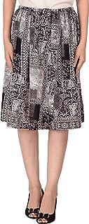 COTTON BREEZE Women's Rayon Skirt (Black)