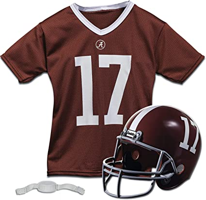Franklin Sports NCAA Kids Football Helmet and Jersey Set - Youth Football Uniform Costume - Helmet, Jersey, Chinstrap