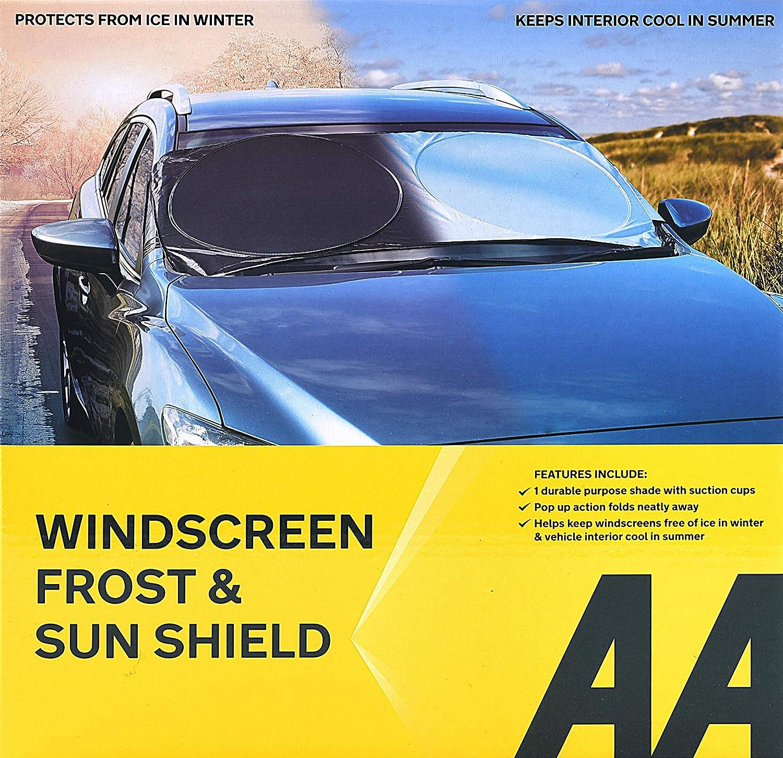 Lucky as you Parasole per Auto,Parasole A Scomparsa da 65 Cm//70 Cm per Protezione Solare per Parabrezza di Piccole E Medie Dimensioni,Isolamento Termico E Raffreddamento 65cm