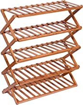 Haneez Home 5-Tier Wooden Shoe Rack, Chappal Stand, Storage Racks, Shelves for Entryway, Balcony, Kitchen and Bathroom