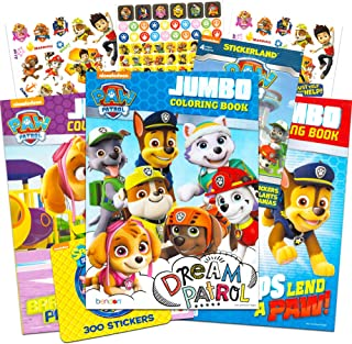 Paw Patrol Coloring and Activity Book Set (3 Coloring Books) with Bonus Stickers