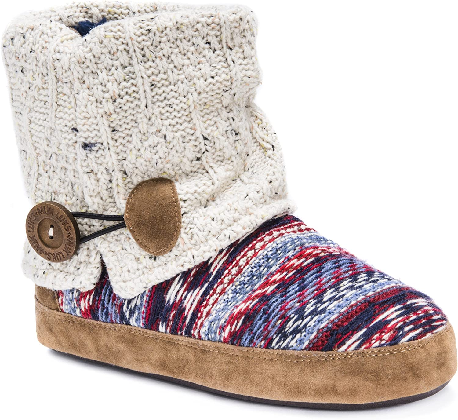 MUK LUKS Women's Patti Slippers-Oatmeal