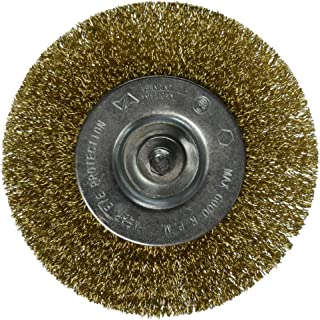 Vermont American 16793 4-Inch Course Brass Wire Wheel Brush with 1/4-Inch Hex Shank for Drill