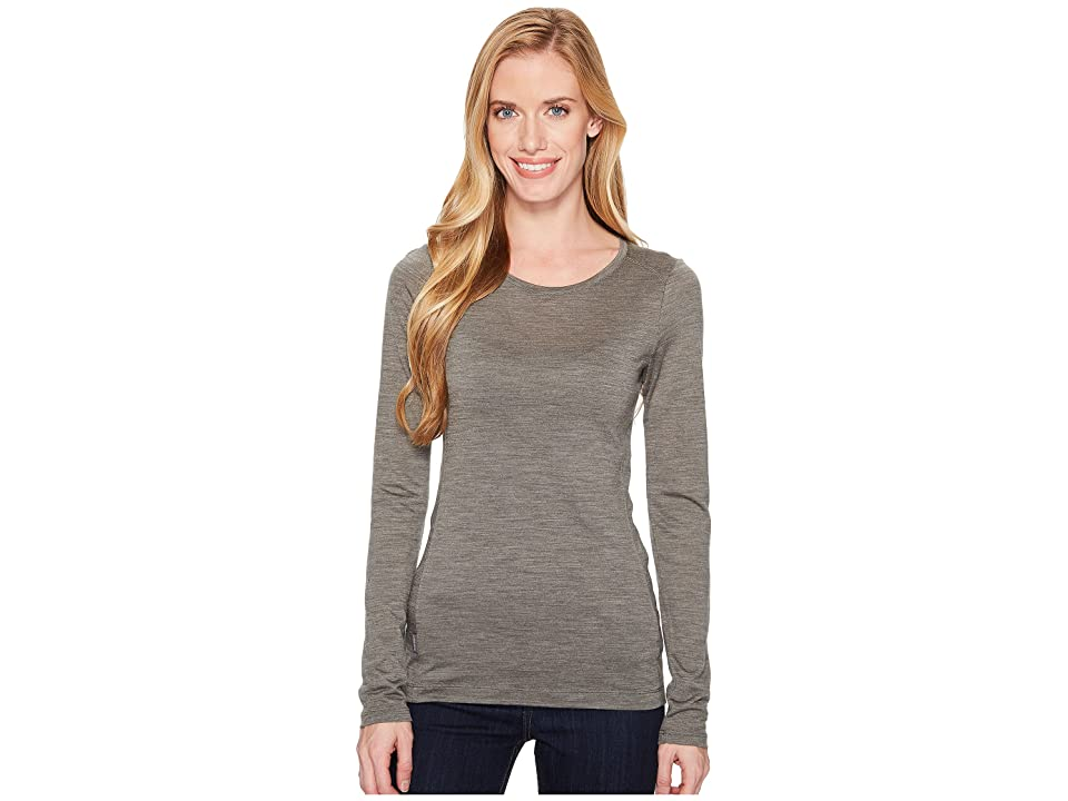Icebreaker Sphere Merino Long Sleeve Low Crewe (Metal Heather) Women