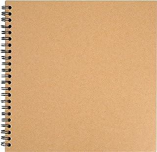 BELLE VOUS Album Scrapbooking Kraft (80 Pages) - 20 x 20 cm - Feuilles Vierges pour Loisirs Créatifs - Livre d Or Personna...