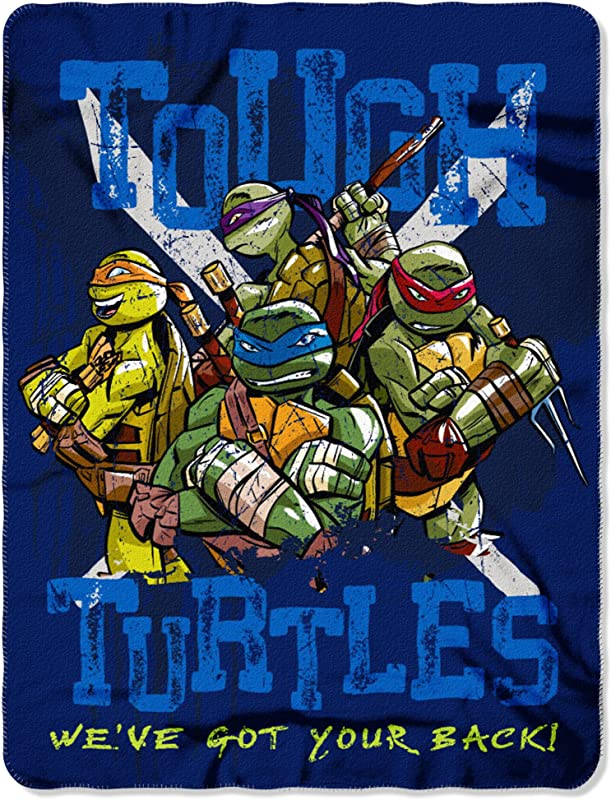 Nickelodeon S Teenage Mutant Ninja Turtles Tough Turtles Blues Fleece Throw Blanket 45 X 60 Multi Color